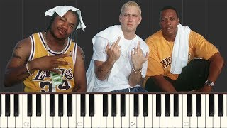 What's the Difference - Dr. Dre featuring Eminem & Xzibit [Piano Tutorial] (Synthesia)