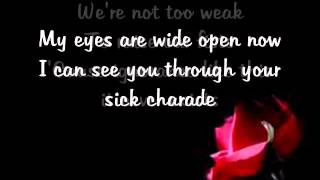 The Letter Black - sick charade lyrics