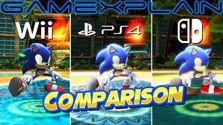 Sonic Colors: Ultimate Wii vs. Switch vs. PS4 comparison