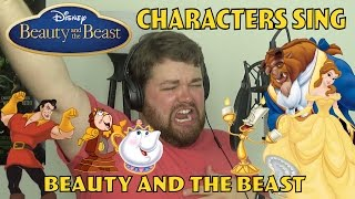 Beauty and the Beast Characters Sing Beauty and the Beast width=