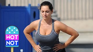 Kelly Brook's Rigorous Workout Routine! Los Angeles width=