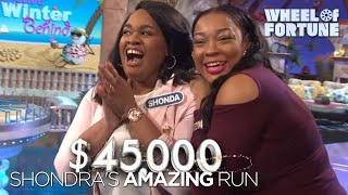 Shonda's Impressive Run | Wheel of Fortune