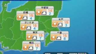 ウェザーニュース Update 関東エリア 2010-12-03 夕