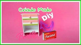 Como fazer um Criado Mudo/Comoda para a Barbie e outras bonecas