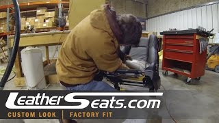 Time Lapse Video of 350Z Leather Seat Cover Backrest Upholstering