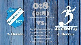 Highlights SSV Sarzbüttel II vs. SG Geest 05 IV - 10.09.2016 (Spielabbruch nach der 1. Halbzeit)