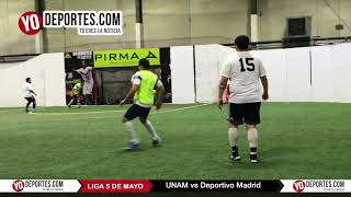 UNAM vs. Deportivo Madrid Liga 5 de Mayo