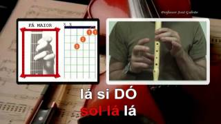 Foi feitiço Andre Sardet Karaoke português Notas para flauta Cifra José Galvão.avi