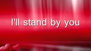Glee- I'll stand by you LYRICS! - YouTube.FLV