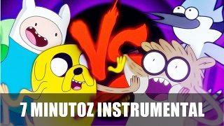 Instrumental - Finn e Jake VS. Mordecai e Rigby   Duelo De Titãs (7 Minutoz)