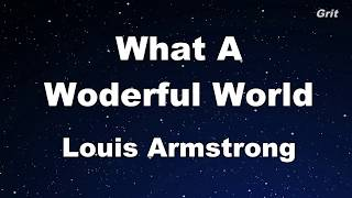What A Wonderful World - Louis Armstrong Karaoke【Guide Melody】