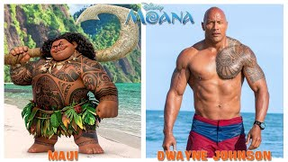 Disney Moana Behind The Voices - Moana Characters in Real Life SMS TV
