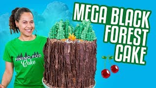 BLACK FOREST Mega Cake!! | How To Cake It width=