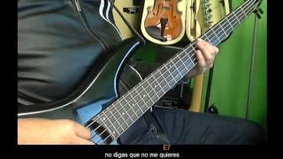 Laurita Garza -Bass Cover- Acordes- Los Invasores de Nuevo Leon