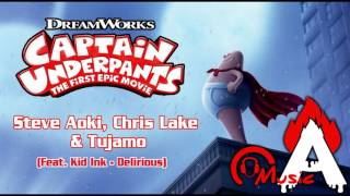 CAPTAIN UNDERPANTS Official Trailer  Song (Kid Ink - Delirious)