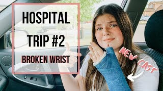 Hostipal Visit || Broken Wrist || New Cast ||