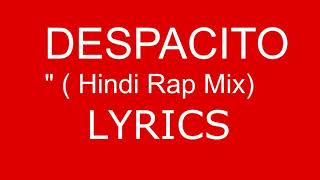 Despacito in hindi lyrics