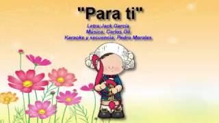 """Canción para el día de las madres """"Para ti mamá"""" (Karaoke instrumental)"""