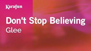 Karaoke Don't Stop Believing - Glee *