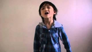 Bruno Mars - It Will Rain (4Yr Old Jeremy Acapella)