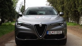 New Alfa Romeo Stelvio first look, preview and sound.