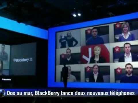 Dos au mur, BlackBerry lance deux nouveaux téléphones