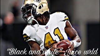 "Alvin Kamara rookie highlights ""Black and white"" Juice Wrld"