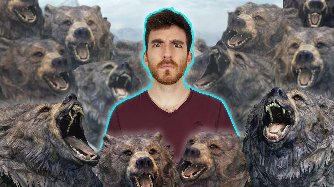 DougDoug - Can you play Skyrim if a BEAR spawns every 10 seconds?