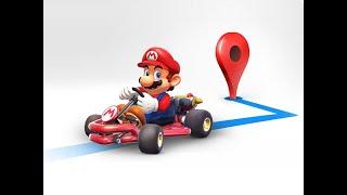 Mario Kart pilote Google Maps
