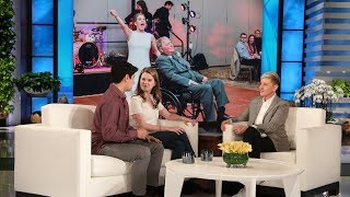 Ellen Welcomes Viral Bride Who Danced with Terminally Ill Father width=