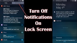 How To Turn Off Notifications On Lock Screen iPhone