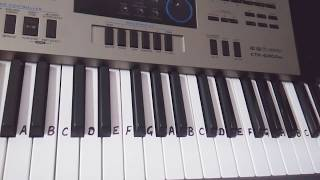 Rakshabandhan Special - phoolon ka Taaro ka on Keyboard Piano- Easy Tutorial For Beginners- Slow