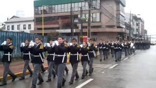 Banda de guerra llegada al liceo