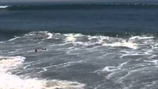 Big Surf 2014- Boogie boarder in trouble at the pier