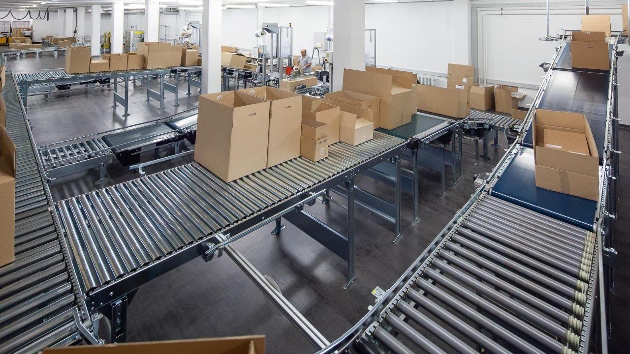 Verpackungsanlage mit Vertikalförderer