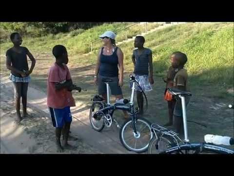Day 1 Coast to Coast South Africa on Dahon folding bikes.wmv
