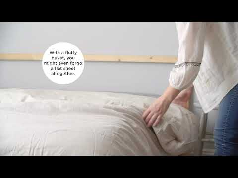 A video on how to make a comfortable bed.