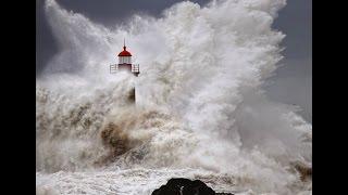 Storm in the ocean.