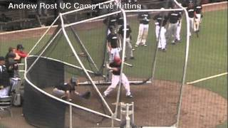 Andrew Rost University of Cincinnati Camp Live Hitting