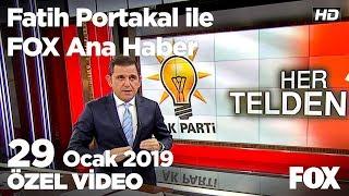 Erdoğan - CHP atışması... 29 Ocak 2019 Fatih Portakal ile FOX Ana Haber
