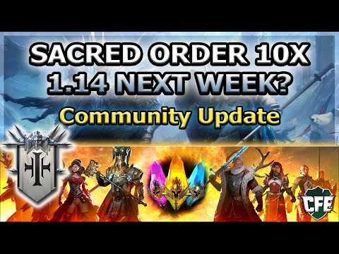 RAID Shadow Legends | SACRED ORDER 10X | 1.14 NEXT WEEK? | COMMUNITY UPDATE