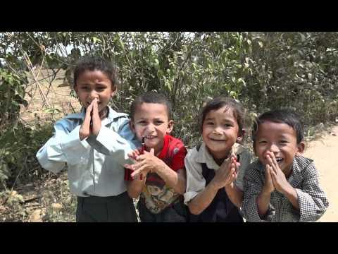 Namaste with Nepali Children in Parshadap, Nepal