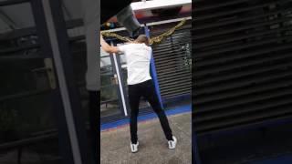 Guy dance to {Nightcore Rockefeller Street}
