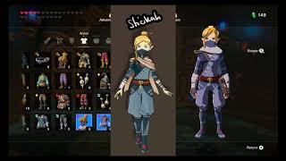 Linkle BOTW some outfit showcase (And some Concept Art)