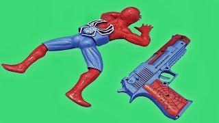 Mainan Anak Desert Eagle Spiderman | mainan tembak tembakan asap  | Guns toys for kids