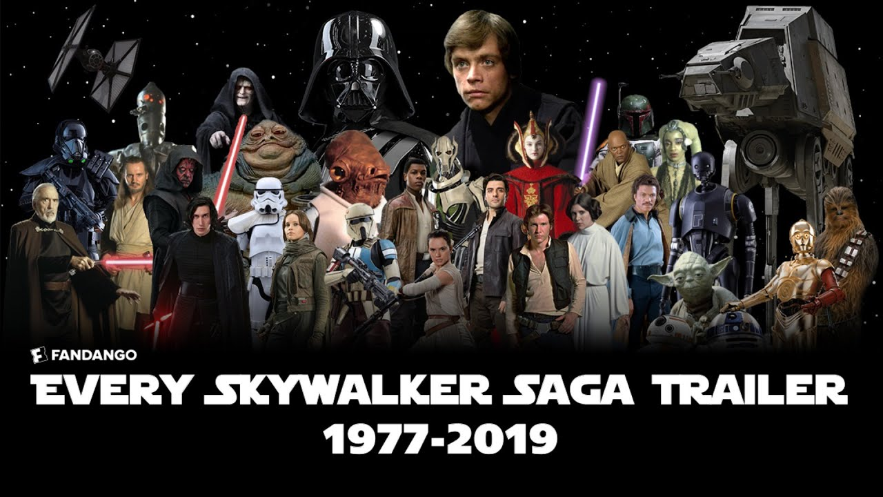 ALL Star Wars: Skywalker Saga Trailers (1977-2019)