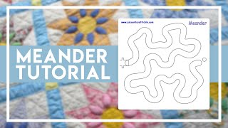 Meander with our Path Easy Template