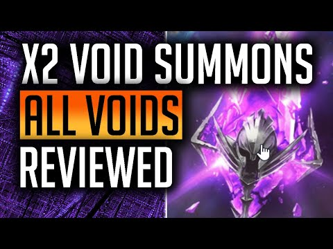 RAID: Shadow Legends | x2 Void Summons this weekend | All voids champions 10 second review!