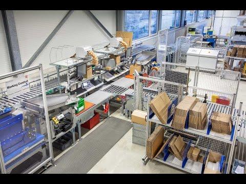 Fördertechnik und Packplätze mit Kippstationen