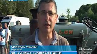 TG TREVISO (02/07/2016) - ZAIA, LA SICUREZZA E LA PROTESTA DEI TRATTORI